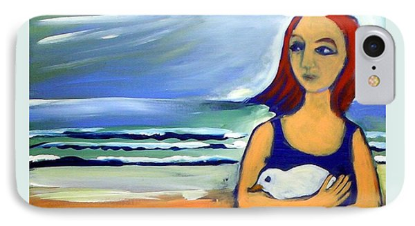 Girl With Bird IPhone Case