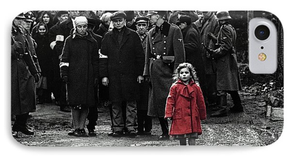 Girl With Red Coat Publicity Photo Schindlers List 1993 IPhone Case