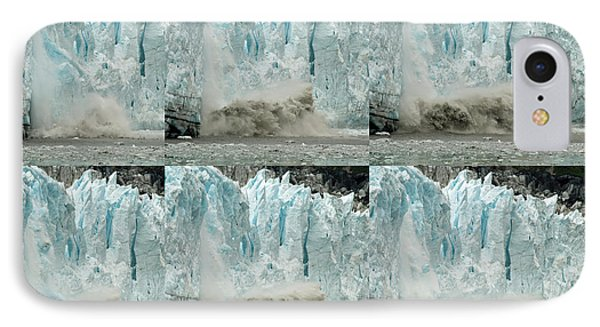 Glacier Calving Sequence 3 IPhone Case