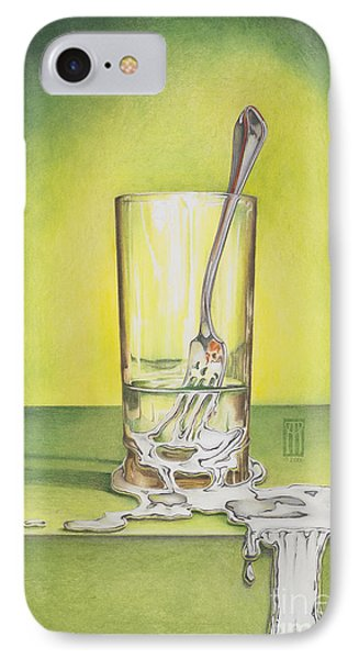 Glass With Melting Fork IPhone Case