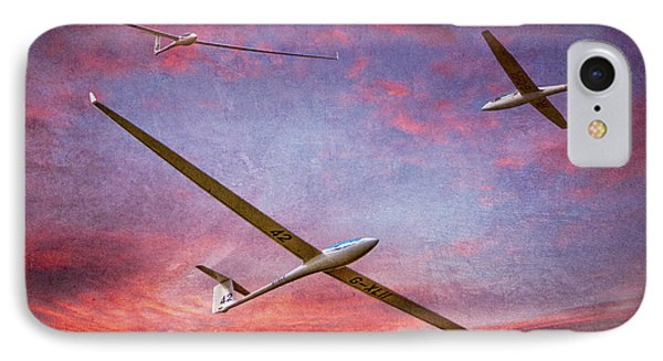 Gliders Over The Devil's Dyke At Sunset IPhone Case