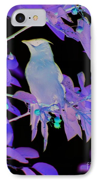 Glowing Cedar Waxwing IPhone Case