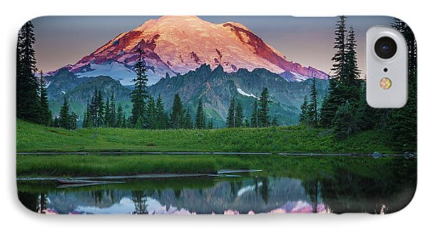 Mountain iPhone 8 Case - Glowing Peak - August by Inge Johnsson