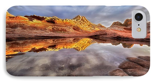 Glowing Rock Formations IPhone Case