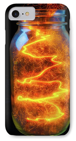 Glowing Sparks In A Jar IPhone Case