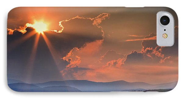 God Rays Over N C  Mountains IPhone Case