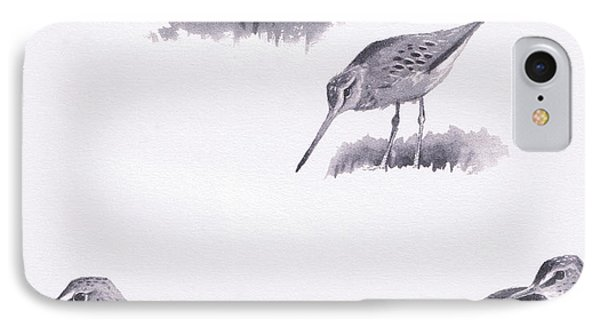 Godwits And Green Sandpipers IPhone Case