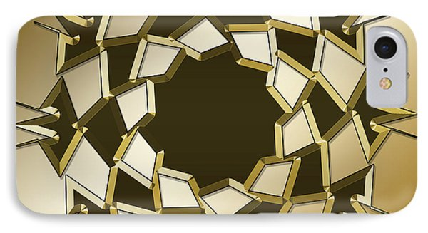 IPhone Case featuring the digital art Gold Coffee 10 by Chuck Staley
