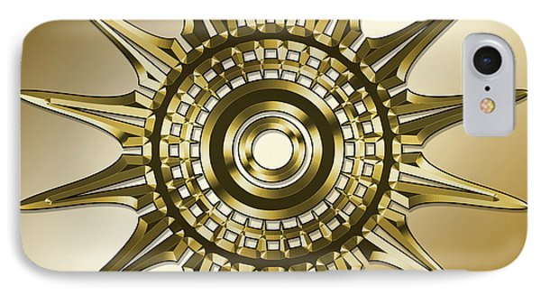 IPhone Case featuring the digital art Gold Coffee 11 by Chuck Staley