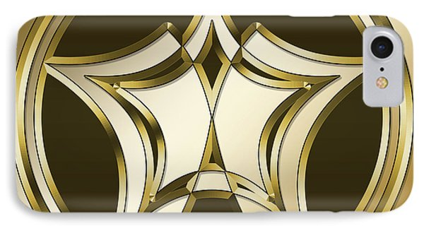 IPhone Case featuring the digital art Gold Coffee 12 by Chuck Staley