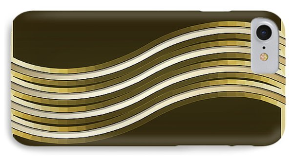 IPhone Case featuring the digital art Gold Coffee 8 by Chuck Staley