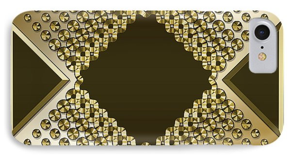 IPhone Case featuring the digital art Gold Coffee 9 by Chuck Staley