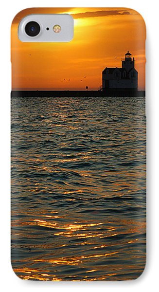 Gold On The Water IPhone Case
