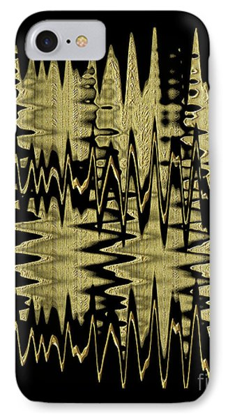 Golden Curves IPhone Case