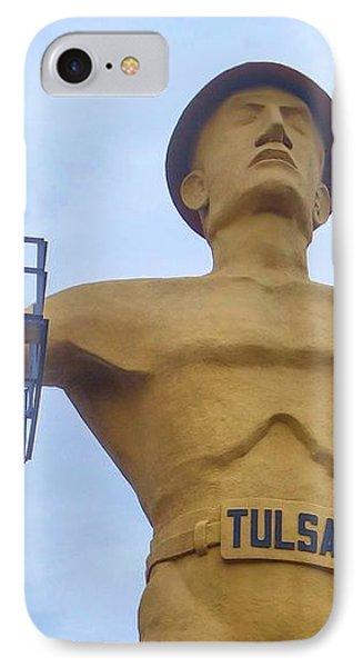 Golden Driller 76 Feet Tall IPhone Case