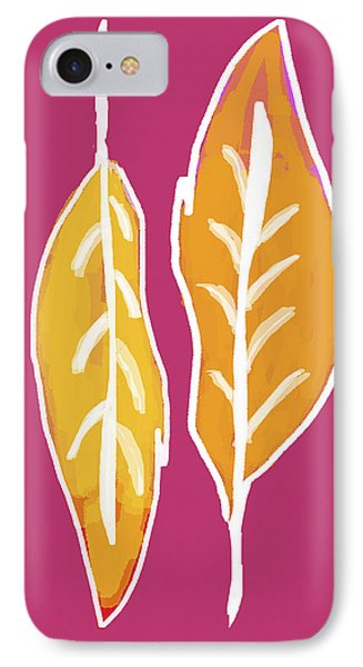 IPhone Case featuring the painting Golden Feathers by Lisa Weedn