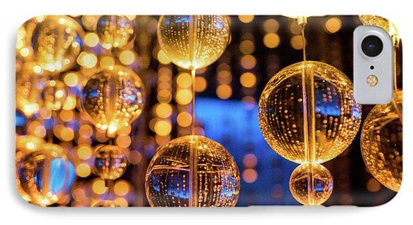 Golden Glass Bubbles IPhone Case