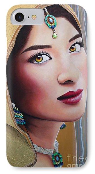 Golden Indian Bride IPhone Case