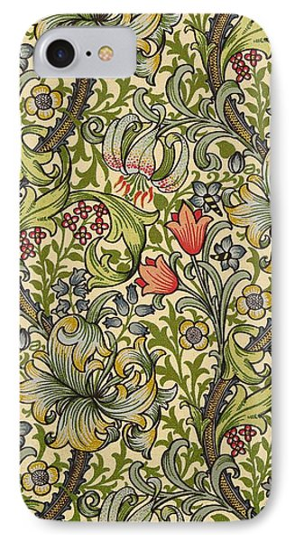 Golden Lily Pattern IPhone Case
