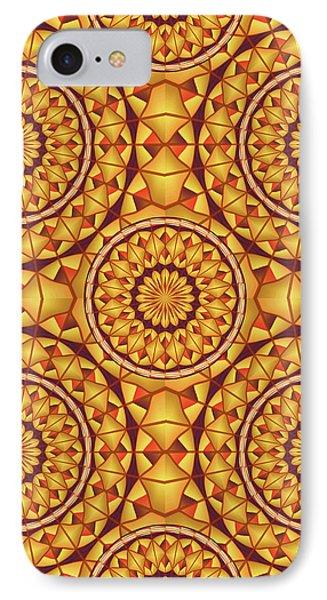 Golden Mandalas Pattern IPhone Case