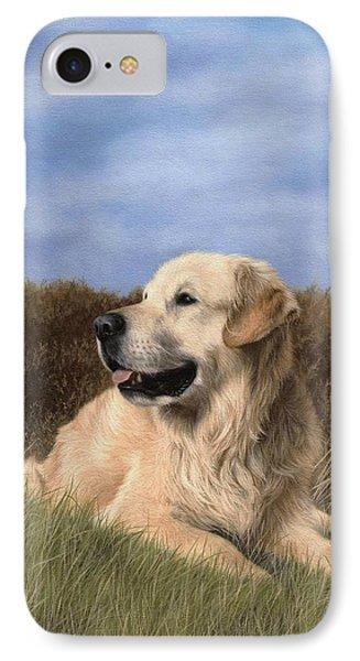 Golden Retriever Painting IPhone Case