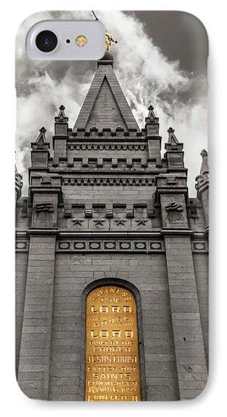 Golden Slc Temple IPhone Case