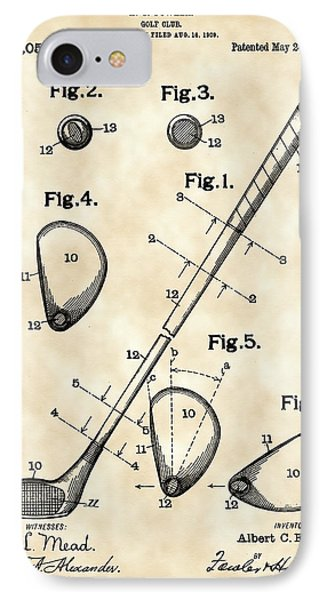 Golf Club Patent 1909 - Vintage IPhone Case