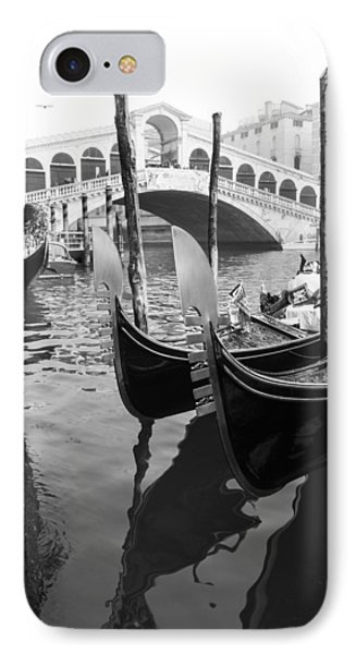 Gondole At Rialto Bridge IPhone Case