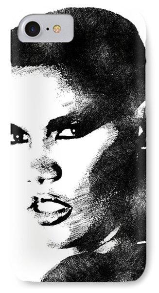 Grace Jones Bw Portrait IPhone Case