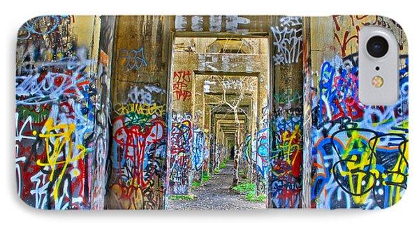 Grafiti Bridge To Nowhere IPhone Case