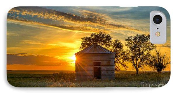 Grain Bin At Sunset IPhone Case