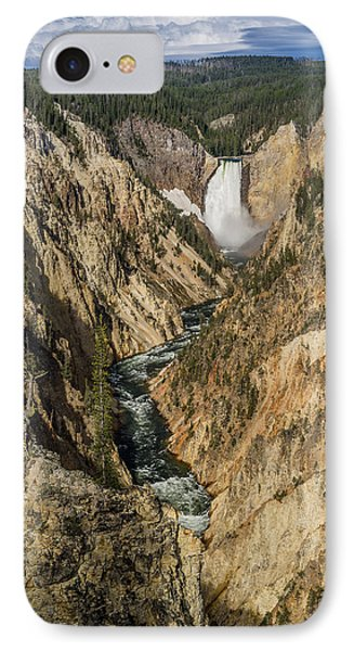Grand Canyon Of The Yellowstone And Yellowstone Falls IPhone Case