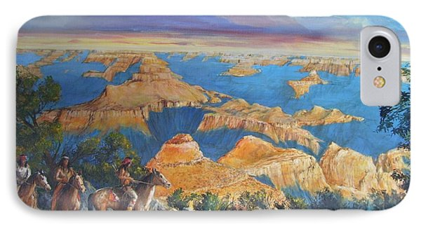 Grand Canyon Visitors At Sunrise IPhone Case