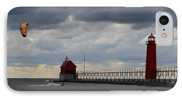 Grand Haven Wind Surfing IPhone Case