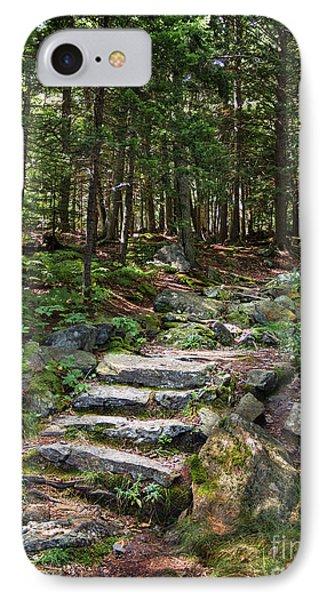 Granite Steps, Camden Hills State Park, Camden, Maine -43933 IPhone Case
