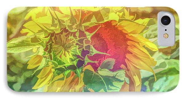 Graphic Rainbow Joyous Sunflower IPhone Case
