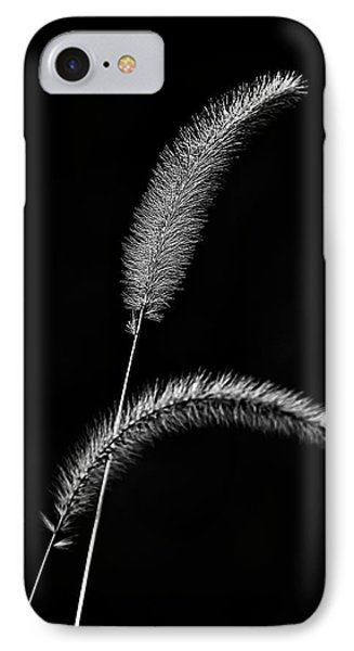 Grass In Black And White IPhone Case