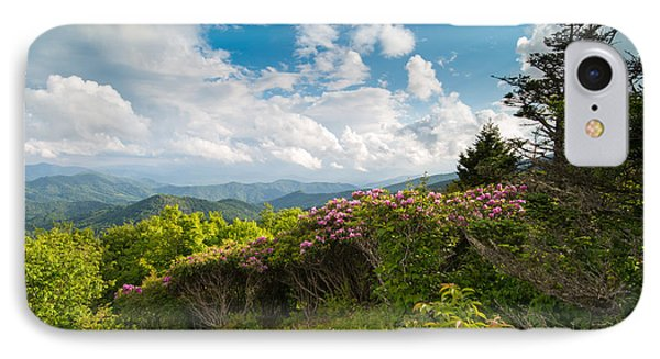 Grassy Ridge Roan Highlands Rhododendrons On The Appalachian Trail IPhone Case