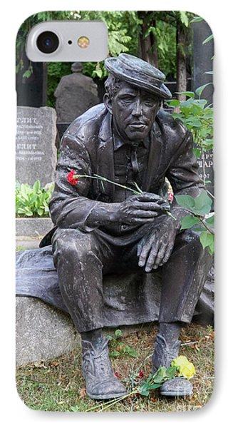 Grave Of The Soviet Russian Actor Yuri Nikulin IPhone Case