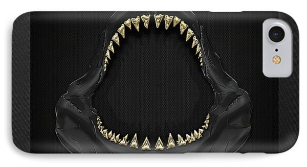 Great White Shark Jaws With Gold Teeth  IPhone Case