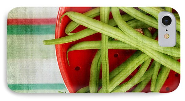 Green Beans Red Collander IPhone Case