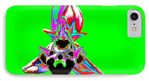 Green Bee Orchid IPhone Case