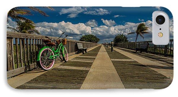 Green Bike At The Beach IPhone Case