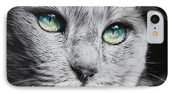 Green-eyed Diva IPhone Case