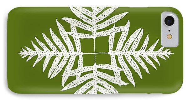 Green Fern Diamond IPhone Case
