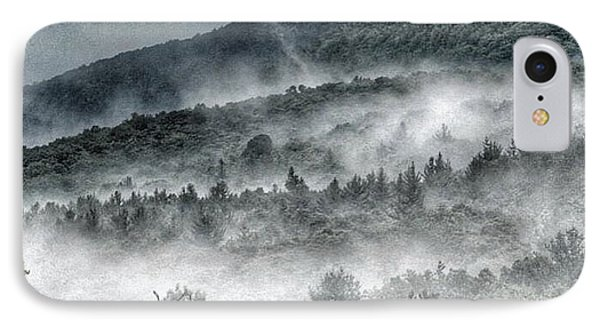 Green Mountains With Fog IPhone Case