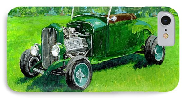 Green Roadster Hot Rod IPhone Case