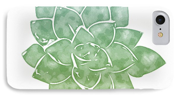 Green Succulent 1- Art By Linda Woods IPhone Case