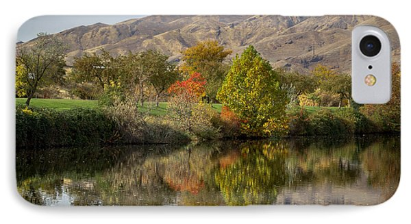 Green Tree Pond Reflection IPhone Case