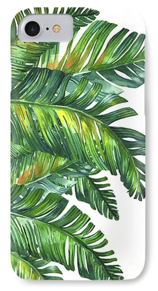 Shapes iPhone 8 Case - Green Tropic  by Mark Ashkenazi